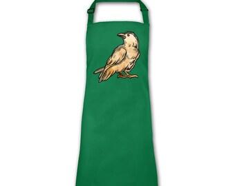 Raven Sketch apron