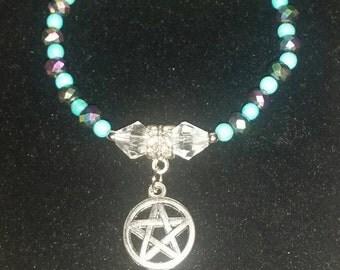 Beaded Pentagram charm Bracelet
