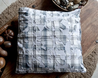 BI jeans-fabric Cushion cover / Cover of bimaterial pillow jeans-cottons