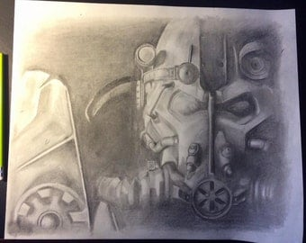 Fallout 4 Power Armor Drawing