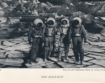 1951 Astronauts Vintage Sci-Fi Print