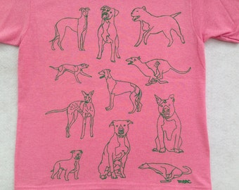 Pit Bull Tee Shirt- Greyhound Tee Shirt- Pit Bull Gift- Greyhound Gift- Dog Rescue T Shirt- Women's Pit Bull Tee- Woman's Greyhound Tee