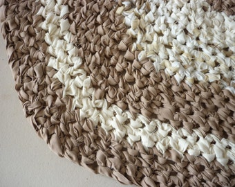 Crocheted Oval 23x36 Upcycled Rug