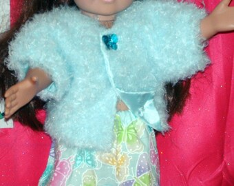 Fuzzy sweater with matching top American girl (doll not included)
