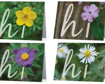 Hi Flower Card Set of 8
