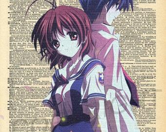 Clannad Tomoya and Nagisa Dictionary Art Print