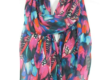 Boho Feather Scarf Pink Scarf Shawl Infinity Scarf Circle Scarf Loop Spring Summer Scarf Women Fashion Accessories Christmas Gift For Her