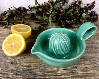 Citrus Juicer Glossy Mint handmade ceramic