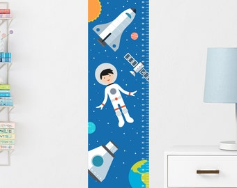 Space Growth Chart Decal, Wall Growth Chart Decal, Growth Chart Sticker, Boys Height Chart, Growth Ruler Decal, Kids Growth Chart