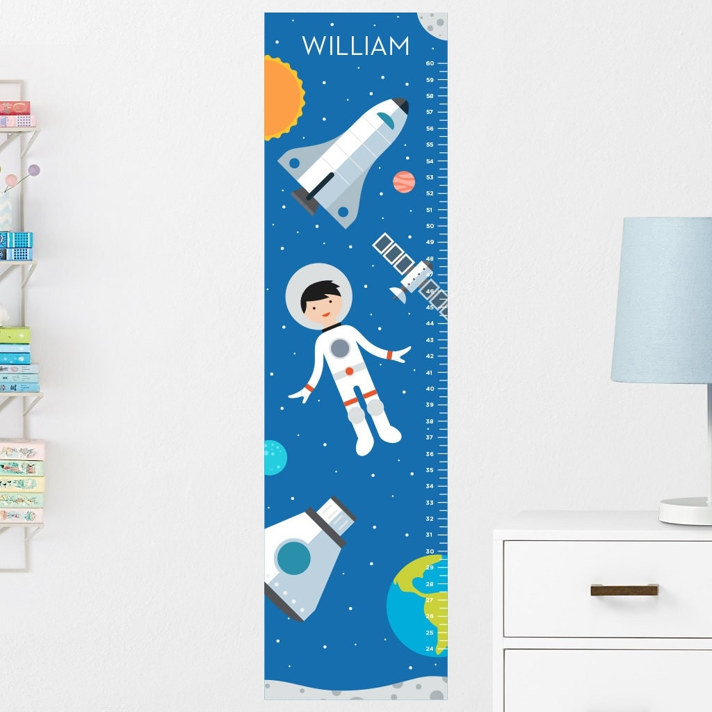 Space Growth Chart Decal Wall Growth Chart Decal Growth Chart