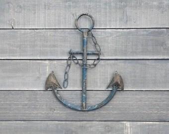 Rustic Anchor With Chain, Nautical,Beach Decor,Pool Decor,Sailing Decor,Anchor Wall Decor,Coastal, Ocean Theme
