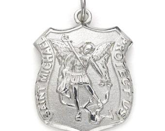 Saint Michael Pendant - Sterling Silver