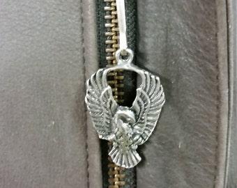 Firebird - Zipper Charm - Pewter