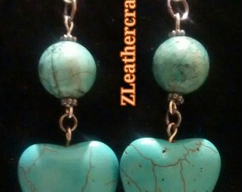 Hearts and balls earrings