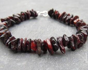 Amber Chip Beaded Bracelet
