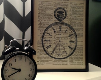 Remember that Time: Vintage Dictionary Art Print