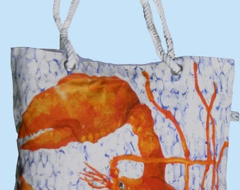 Sale for Limited Time & FREE SHIPPING!  Lobster Canvas Bag