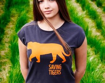 WWF Organic cotton women t-shirt Tiger