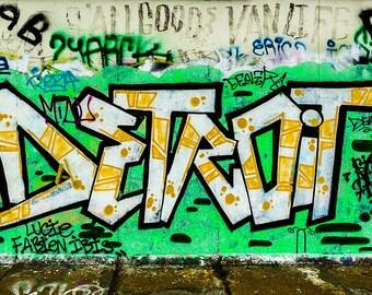 Digital Download, Street Art Photos Prints, Graffiti Photo, Detroit Graffiti Photograph Prints, Berlin Wall Art Photos Prints, Home Decor