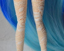 Ecru lace stockings for Blythes / Monster High / Bjd YOSD