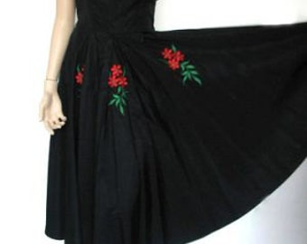 1950's Dress With Sash