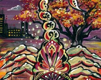 Scorpio Zodiac Painting Print