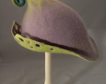 Handmade felt pixie hat