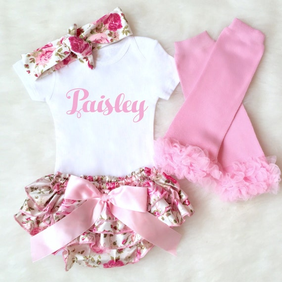Personalized Baby Outfit Baby Girl Clothes by