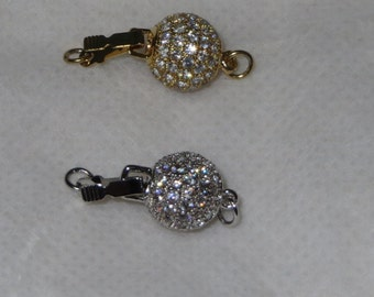 10 MM CZ Round Clasp (Gold & Silver Plated)