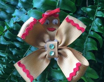 Gingerbread Man/Woman Hair Clip
