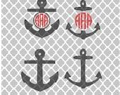 Anchor Svg, Anchor monogram svg, SVG , Anchor cuttable image, Anchor monogram, Monograms,Anchors,