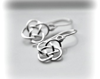 Celtic Knot Earrings, Silver Dangle Earrings, Jewelry Gift, Sterling Silver Celtic Earrings, Solid Silver Dangle Earrings, Blissaria