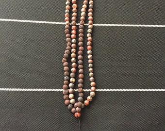 Brown Lava Prayer Beads
