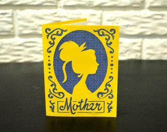 Mother's day Card | Mother's Birthday card | Die cut mother's card | Handmade Mother's card