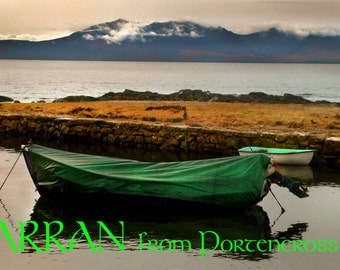 Arran from Portencross Scotland