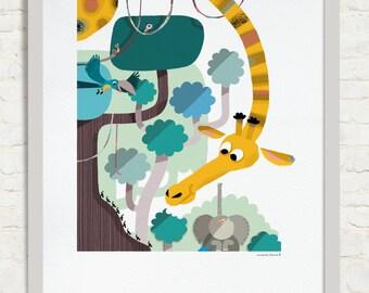 Ants!, Tumbili book illustration. Editorial Cruïlla 2014. Digital Giclee Print.