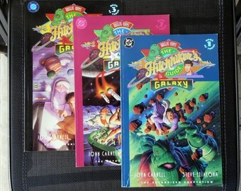 The Hitchhikers Guide to the Galaxy by Douglas Adams 1993 - Books 1, 2, and 3 of 3 book series- DC Comics