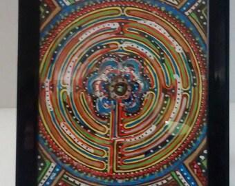 "Original Framed Art Work, ""Labyrinth"" insired design by: Amber Lynn Klaudt"