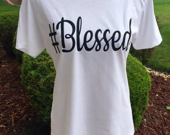 Blessed (Ladies Boyfriend Fitted T-Shirt)