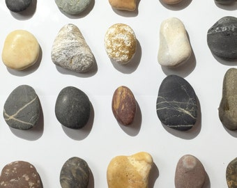 Beach pebbles & Polished stone fridge magnets