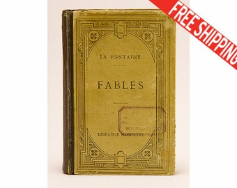 "French Antique Book ""La Fontaine - Fables"" / Publication Librairie Hachette / 1922 / 26 edition, Collectible Book, FREE SHIPPING WORLDWIDE"