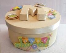 Baby Shower Memory Box, Baby Shower Keepsake Box, Baby Shower Gift, Memory Box, Keepsake Box, New Baby Memory Box, New Baby Keepsake Box