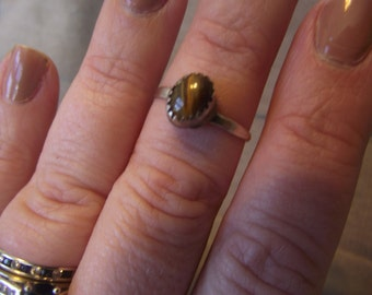 Tigers Eye Ring Sz 7plus