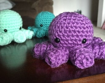 Little Crochet Octopus, Amigurumi Octopus, Octopus Plush, Stuffed Octopus, Mini Octopus, Handmade Octopus
