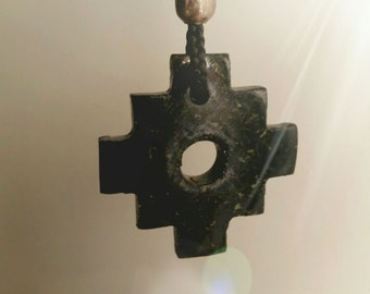 Chakana (Inca\Andean Cross) Necklace - Hand Carved