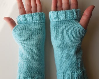 Light Green/Blue Wrist Warmers
