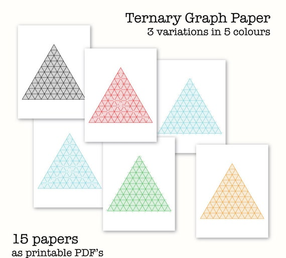 Ternary Graph Papers Triangular Graph Paper Digital