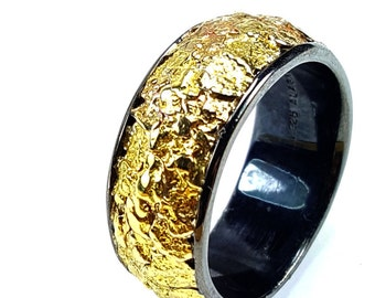 2418-Men's Gold Nugget Band  Promotion  10% Off