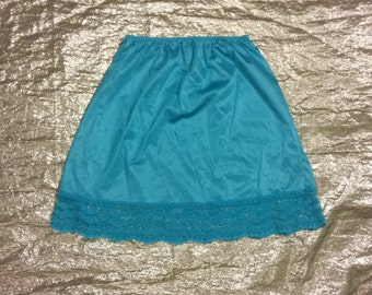 cute blue slip with lace