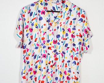 Arty white blouse